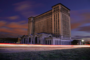 Featured Digital Art Metal Prints - Detroits Abandoned Michigan Central Station Metal Print by Gordon Dean II