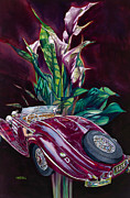 Mercedes Paintings - Deutschland Uber Lilies by Mike Hill