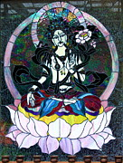 Buddha Goddess Framed Prints - Devi Shakti Goddess Framed Print by Karon Melillo DeVega