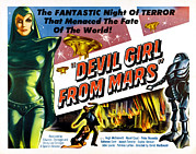 1955 Movies Posters - Devil Girl From Mars, Left Patricia Poster by Everett