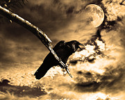 Perigee Moon Posters - Devil In The Clouds Poster by Wingsdomain Art and Photography