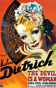 1930s Poster Art Posters - Devil Is A Woman, The, Marlene Poster by Everett