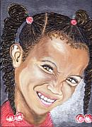 Keenya Woods Mixed Media Metal Prints - Devilish Grin  Metal Print by Keenya  Woods