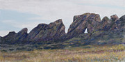 Formation Pastels Prints - Devils Backbone Looking East Print by Billie Colson