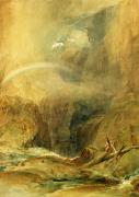 Wax Posters - Devils Bridge Poster by Joseph Mallord William Turner