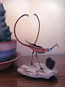 Mexico Sculptures - Devils Claw Bird Sculpture by Jeff Ross