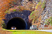 Susan Leggett Metal Prints - Devils Courthouse Tunnel Metal Print by Susan Leggett
