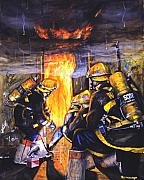 Fireman Paintings - Devils Doorway by Paul Walsh