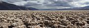 Salt Flats Posters - Devils Golf Course Panorama Death Valley National Park Poster by Pierre Leclerc