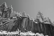 Dark Gray Blue Prints - Devils Postpile - Frozen columns of lava Print by Christine Till