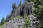 Light Blue Gray Prints - Devils Postpile - Natures Masterpiece Print by Christine Till