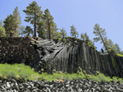 Light Blue Gray Prints - Devils Postpile - Talk about natural wonders Print by Christine Till