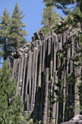 Natural Formations Posters - Devils Postpile National Monument - Mammoth Lakes - east California Poster by Christine Till