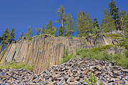 Devils Postpile Photos - Devils Postpile wide view 2 by Kelley King