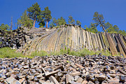 Devils Postpile Photos - Devils Postpile wide view by Kelley King