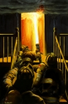 Fire Paintings - Devils Stairway by Paul Walsh
