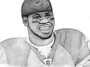 Sports Portrait Drawings Drawings - Devin Hester by Kiyana Smith