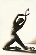White Painting Metal Prints - Devotion to Dance Metal Print by Richard Young