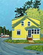 Small Town Paintings - Dewey Ave by Laurie Breton