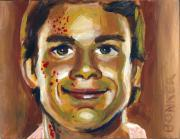 Smile Painting Prints - Dexter Print by Buffalo Bonker