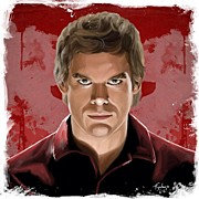 Portraits Framed Prints - Dexter Framed Print by Tony Santiago