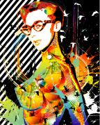 Nostalgic Mixed Media Prints - Dexterous Dame Print by Chris Andruskiewicz