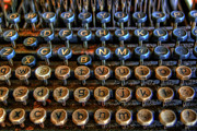 Typewriter Keys Photo Prints - Dfghjk Print by Joel Witmeyer