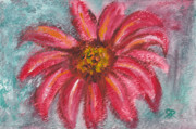 Background Paintings - Dhalia flower by Rashmi Rao