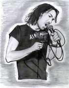 George Harrison Drawings - Dhani Harrison Live by Diane Machin