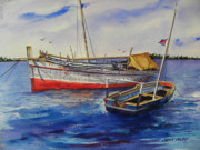 Handmade Originals - Dhows off Lamu by Chuck Creasy