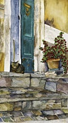 Exterior Paintings - Di Gatto by Barb Pearson