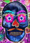 Bright Colored Prints - Dia de los Muertos Print by Dolly Sanchez
