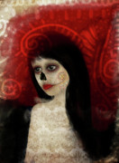 Lowbrow Digital Art Framed Prints - Dia De Los Muertos Framed Print by Jessica Grundy