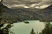 Landscapes Tapestries Textiles Originals - Diablo Lake - Le grand seigneur of North Cascades National Park WA USA by Christine Till