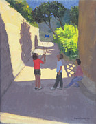 Children Playing Paintings - Diabolo France by Andrew Macara