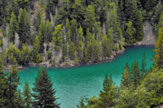 Landscapes Tapestries Textiles Originals - Diabolo Lake North Cascades NP WA by Christine Till