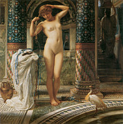 Woman Bathing Paintings - Diadumene by Edward John Poynter