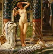 Bath Framed Prints - Diadumene Framed Print by Sir Edward John Poynter