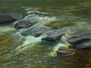 Brook  Pastels Metal Prints - Diagonal Rocks Metal Print by Timon Sloane