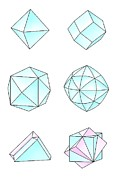 Dodecahedron Prints - Diamond Crystal Forms, Artwork Print by Gary Hincks