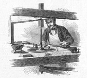 1867 Prints - Diamond Cutter, 1867 Print by Granger