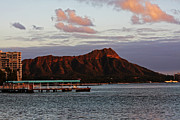 Diamond Head Framed Prints - Diamond Head Sunset Framed Print by Ty Helbach