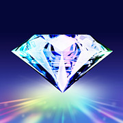 Blue Background Digital Art - Diamond by Setsiri Silapasuwanchai