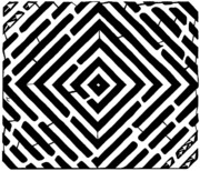 Pulsating Prints - Diamond Shaped Optical Illusion Maze Print by Yonatan Frimer Maze Artist