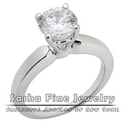 Sasha Fine Jewelry - Diamond Solitaire Ring