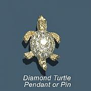 Beach Jewelry Originals - Diamond Turtle by Vargas Jewelry