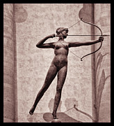 Weather Vane Prints - Diana - Goddess of Hunt Print by Bill Cannon