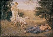 Diana Paintings - Diana and Endymion by Walter Crane