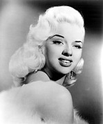 Platinum Blonde Prints - Diana Dors, Ca. 1957 Print by Everett