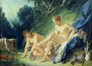 Myths Art - Diana getting out of her bath by Francois Boucher